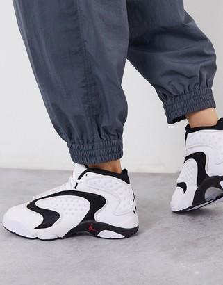 Jordan Nike Air OG trainers in white and black