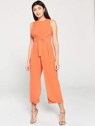 AX Paris Overlay Culotte Jumpsuit - Orange