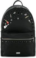 Dolce & Gabbana music embellished backpack - men - Nylon/metal - One Size