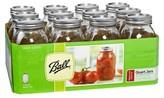 Ball Set of 12 1 Quart (32 oz.) Regular Mouth Canning Jar