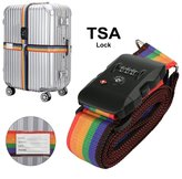 Luggage Strap with TSA Lock, Dolida Travel Luggage Strap with 3 Dial TSA Approved Lock, Adjustable Suitcase Belt Packing Belt Travel Tags for Airport Security and Baggage Claim Identification
