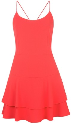 Alice + Olivia Palmira ruffle-hem mini dress