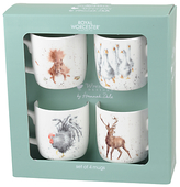 Royal Worcester Wrendale Animal Gift Mugs, 310ml, Set of 4