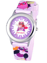 Character Red Balloon Love Owl Time Teacher Kids Stainless Steel Watch