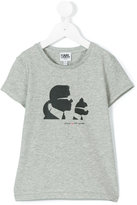 Karl Lagerfeld and Choupette T-shirt - kids - Cotton/Spandex/Elastane - 8 yrs