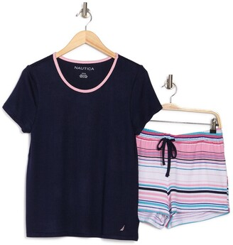 Nautica Top & Short Pajama 2-Piece Set