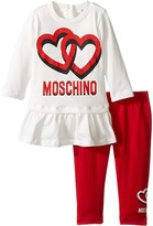 Moschino Kids Logo Tee w/ Flounce and Leggings Set (Infant/Toddler)