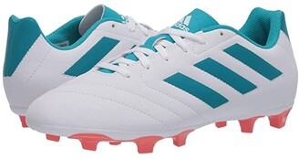 adidas Goletto VII FG W (Footwear White/Energy Blue/Easy Coral) Women's Soccer Shoes