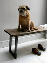 Quirky Interiors Oak And Steel Bench