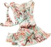 DQdq Little Girls 3 Piece Bikini Cover up Sets Beach Wear