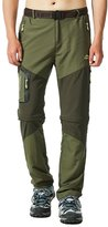 MAGCOMSEN Convertible Quick Dry Men's Hiking Pants with Multiple Pockets Waistband and Belt