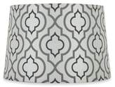 Bed Bath & Beyond Mix & Match Small 9-Inch Two-Tone Screen Printed Lamp Shade in Silver/White