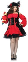 Leg Avenue Women's Plus Size Vixen Pirate Wench Costume, Red/Black, 3X-4X