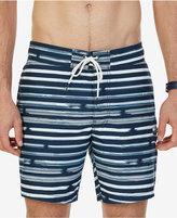 "Nautica Men's Quick-Dry Striped 7 1/2"" Swim Trunks"