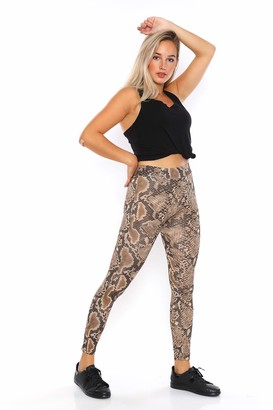 CM FASHION High Waist Ultra Soft Lightweight Yoga Pants Workout Leggings (Small
