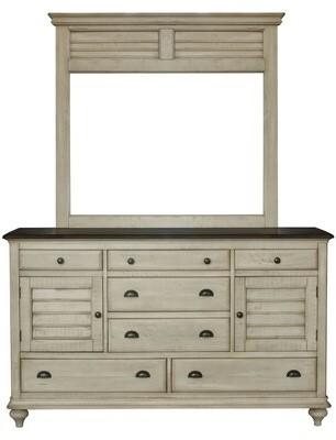 Gracie Oaks Kennington 7 Drawer Combo Dresser With Mirror Shopstyle