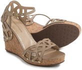 Adrienne Vittadini Chavi Lace Wedge Sandals - Leather (For Women)
