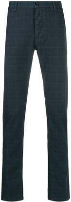 Trussardi Jeans checked slim-fit chinos