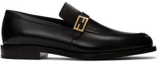Fendi Black Forever Baguette Loafers