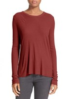 Enza Costa Rib Knit Crewneck Jersey Top