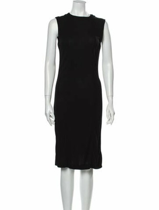 Gucci Vintage Midi Length Dress Black