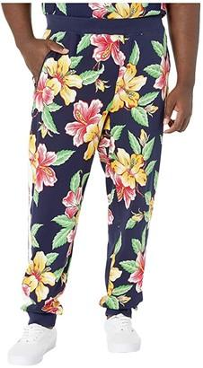 Polo Ralph Lauren Big & Tall Vintage Hibiscus Interlock Track Pants (Vintage Hibiscus Navy) Men's Casual Pants