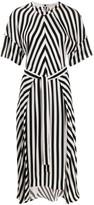 Stella McCartney striped step-hem midi dress