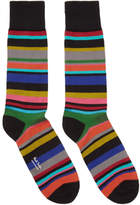 Paul Smith Black Striped Bolog Socks