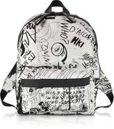 MM6 Maison Martin Margiela White and Black Drawings Print Backpack