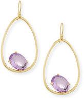 Ippolita 18K Rock Candy Tipped Oval Wire Earrings in Amethyst