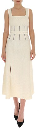 Alexander McQueen Knitted Midi Dress