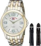 U.S. Polo Assn. Men's Two Tone Bracelet Two Interchangeable Watch Set US2038
