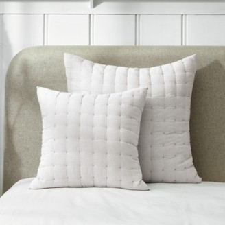 The White Company Romney Cushion Cover, White Grey, Medium Square