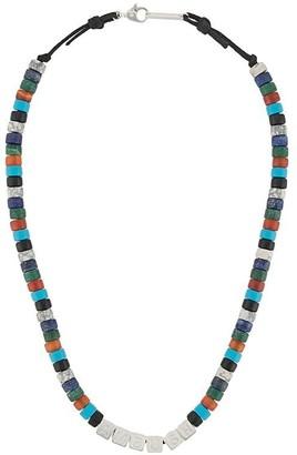 Ambush Stone Beads Necklace Silver Multi