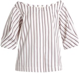 Isa Arfen Bunting Stripe button-down cotton top
