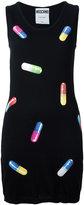 Moschino pill print fitted dress - women - Virgin Wool - 36