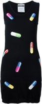 Moschino pill print fitted dress