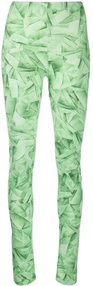 MM6 MAISON MARGIELA Graphic Print Fitted Leggings