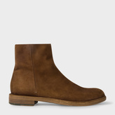 Paul Smith Men's Dip-Dyed Dark Tan Suede 'Sullivan' Boots