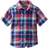 Osh Kosh Check Woven Shirt (Toddler/Kid) - Red/Blue-7