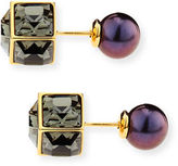 Vita Fede Double Cubo Gemma Pearl Earrings