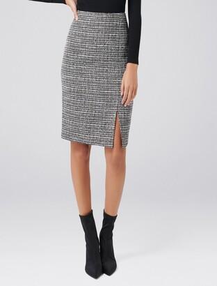 Forever New Luca Boucle Pencil Skirt - Black Boucle - 16
