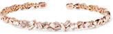 Suzanne Kalan 18-karat Rose Gold Diamond Cuff - one size