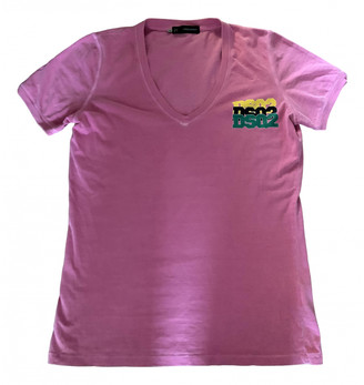 DSQUARED2 Pink Cotton T-shirts