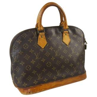 Louis Vuitton Vintage Alma Brown Cloth Handbag