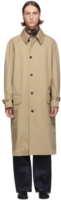 Junya Watanabe Beige Laminated Water-Repellent Coat