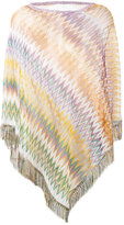 Missoni zig zag crochet knit poncho - women - Polyamide/Viscose - One Size