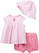 Offspring Elephant Top, Short, & Hat Set (Baby Girls)