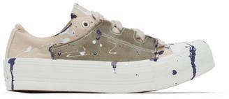 Needles Beige Paint Ghillie Sneakers