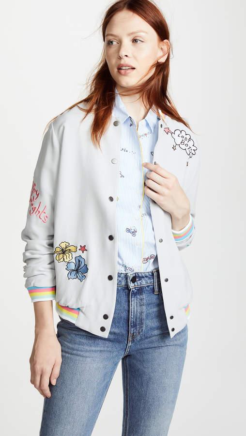 Mira Mikati Lost Boy Embroidered Bomber Jacket